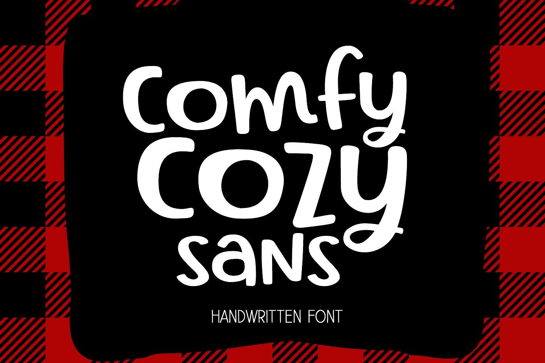 Comfy Cozy Sans Handwritten Font example image 1