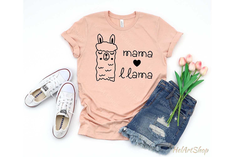 Mama Llama svg, Alpaca svg, Cute Llama svg example image 2