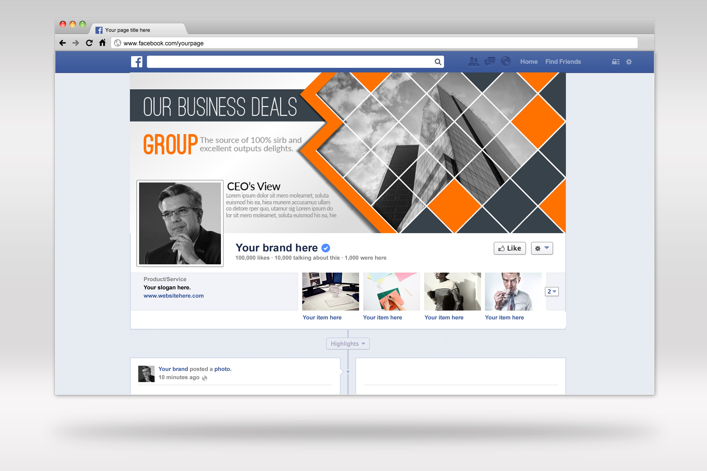 Business Facebook Timelines 02 example image 1