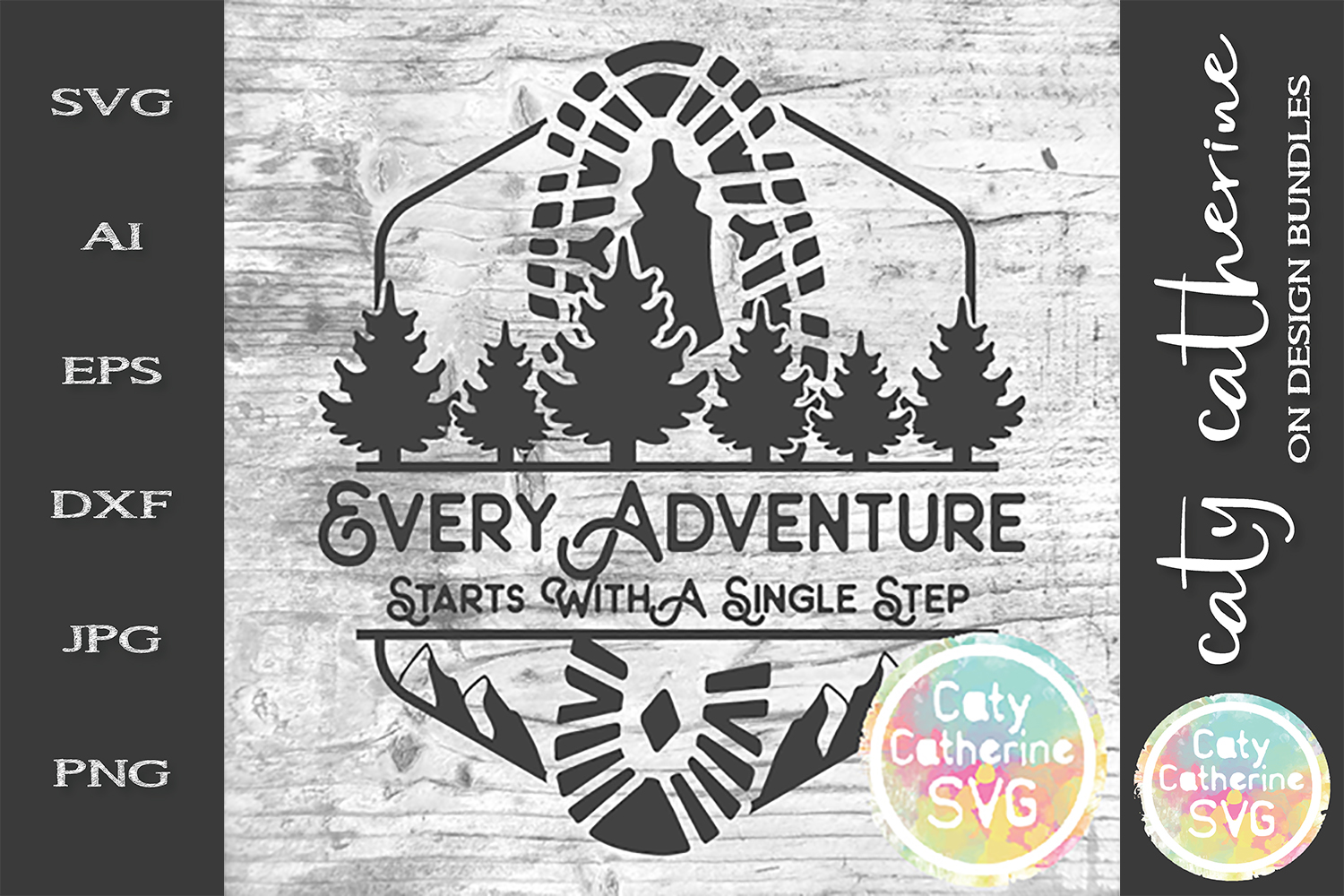 Every Adventure Starts With A Single Step SVG Cut File example image 1