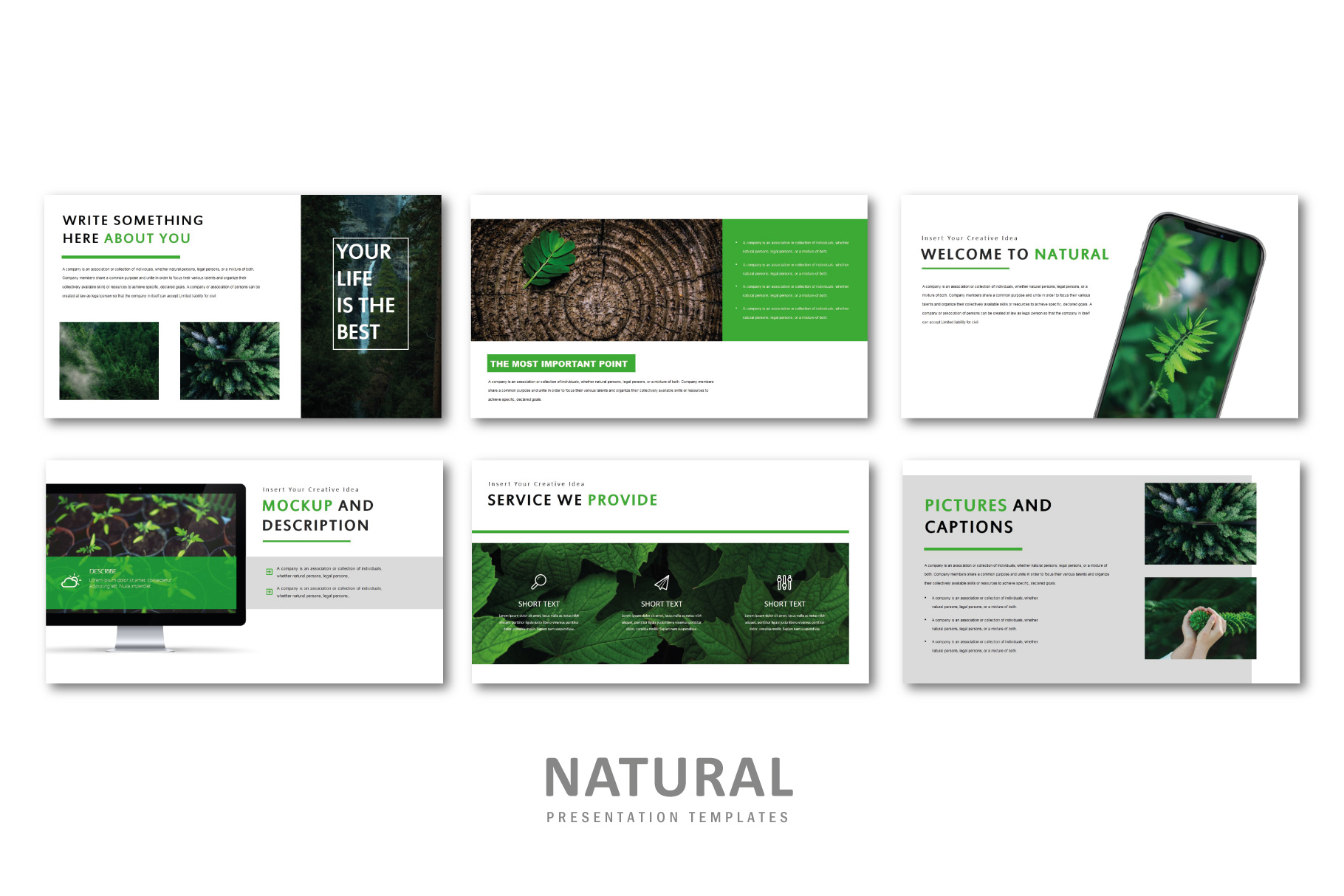 Natural PowerPoint Templates example image 3