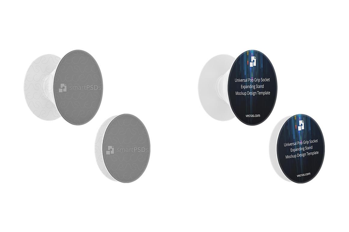 Universal Pop Grip Socket Stand Design Mockup (5 Views) example image 5