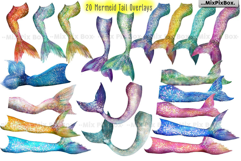 35 Mermaid Tail Overlays example image 4