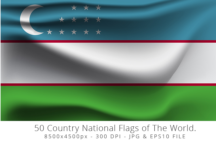 Realistic waving 50 Country National Flags of The World. example image 14