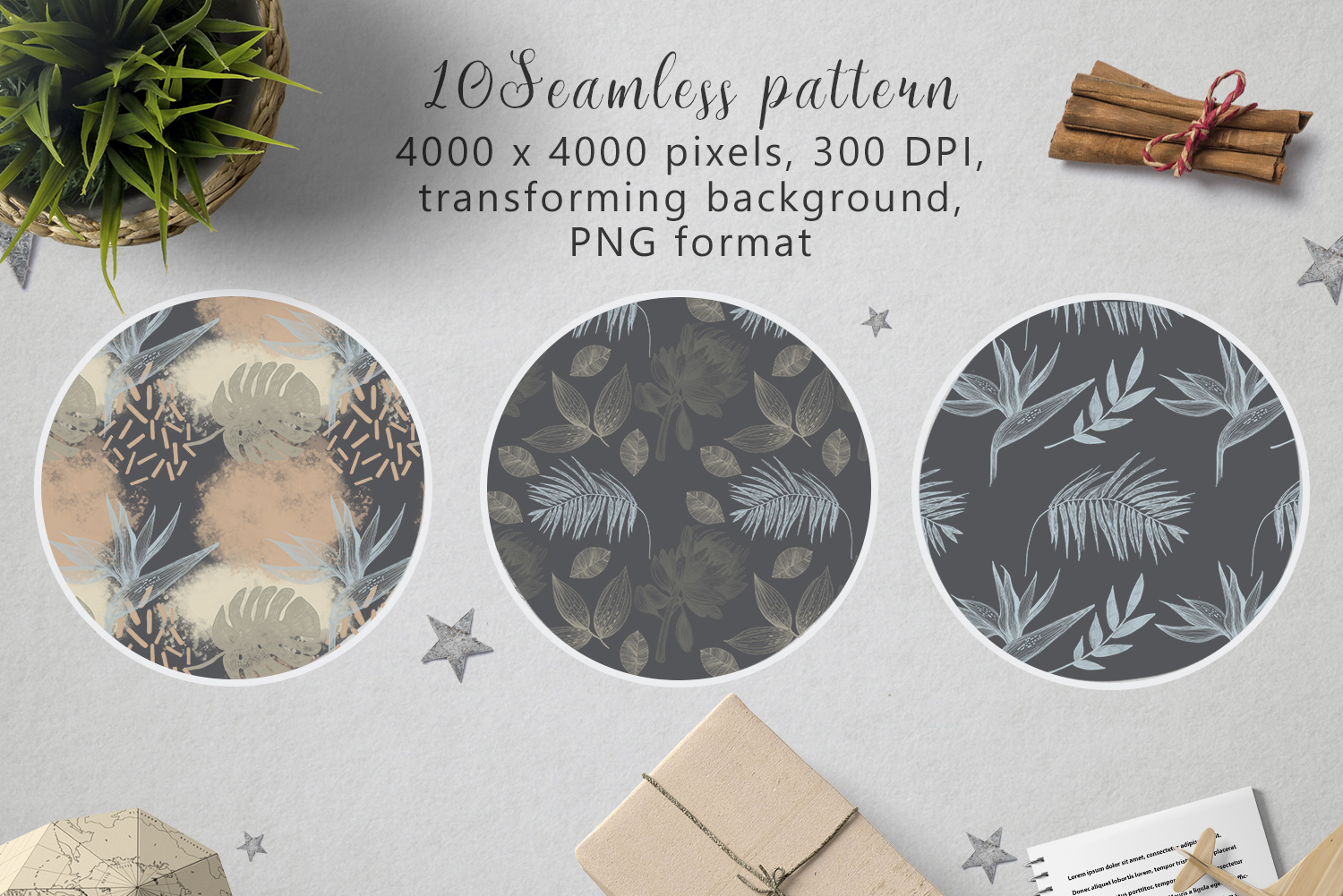 Hand drawn textures collection example image 5