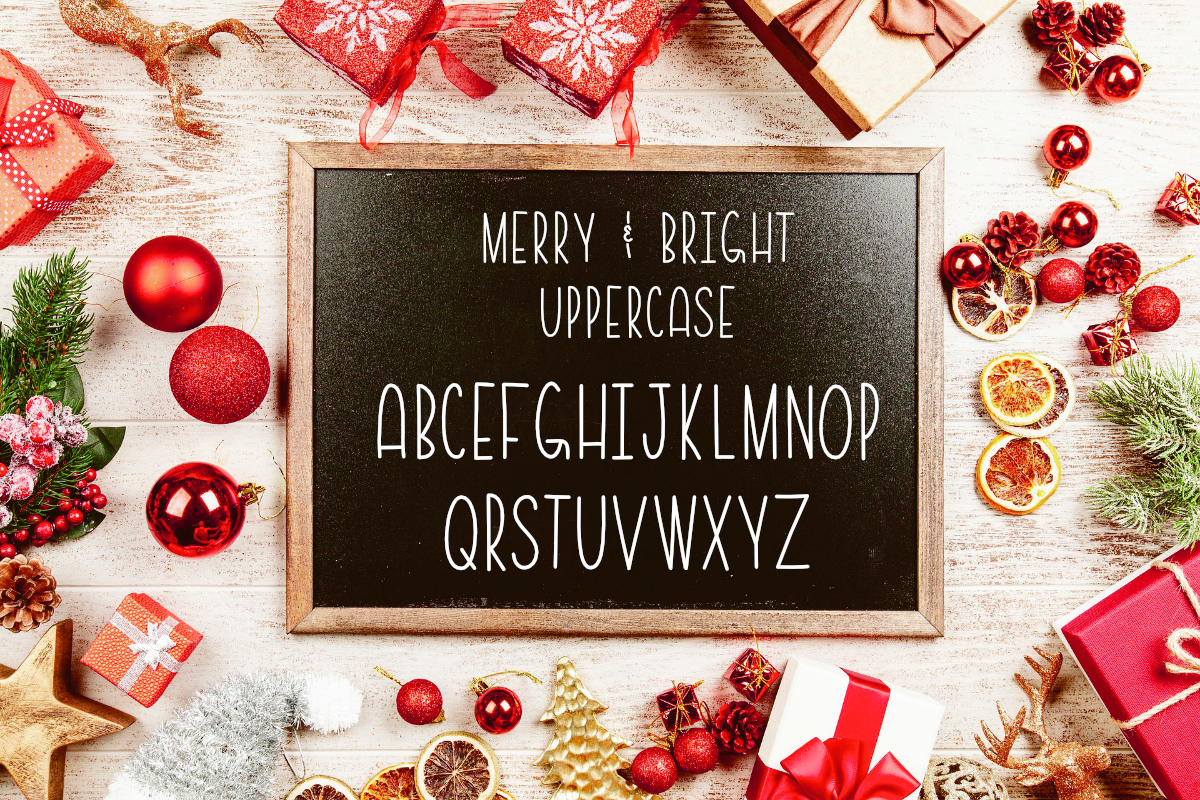 Merry & Bright All Caps Font example image 3