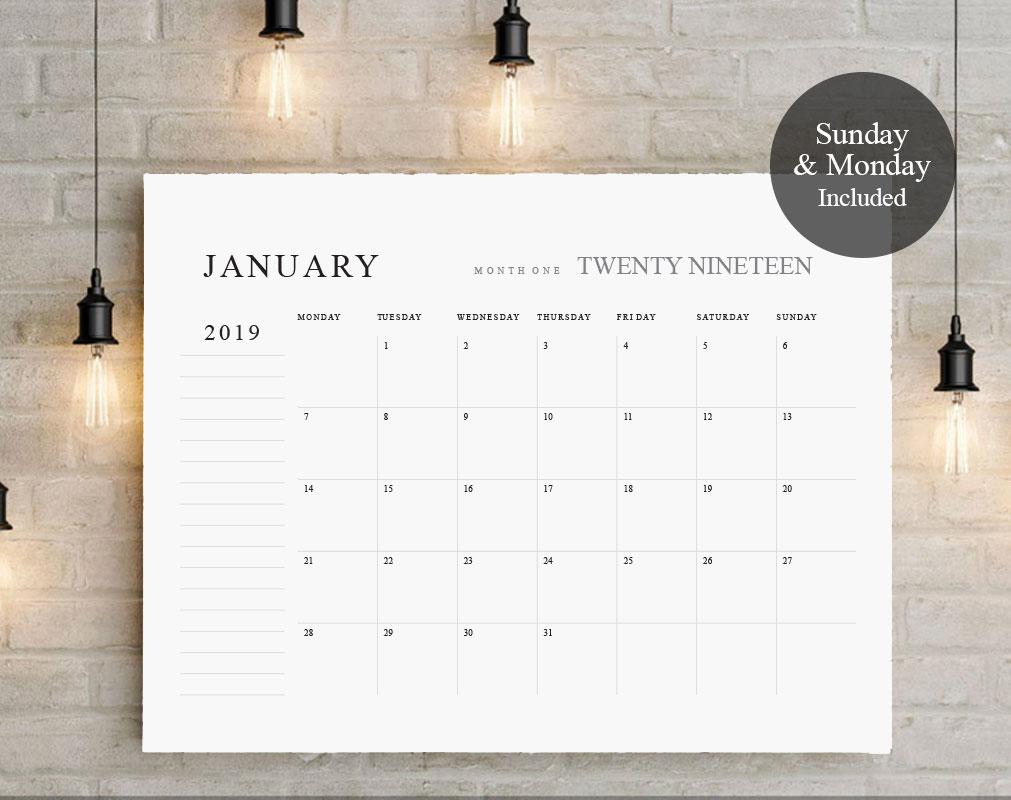 2019 - 2020 Big Calendar TOS_20 example image 5