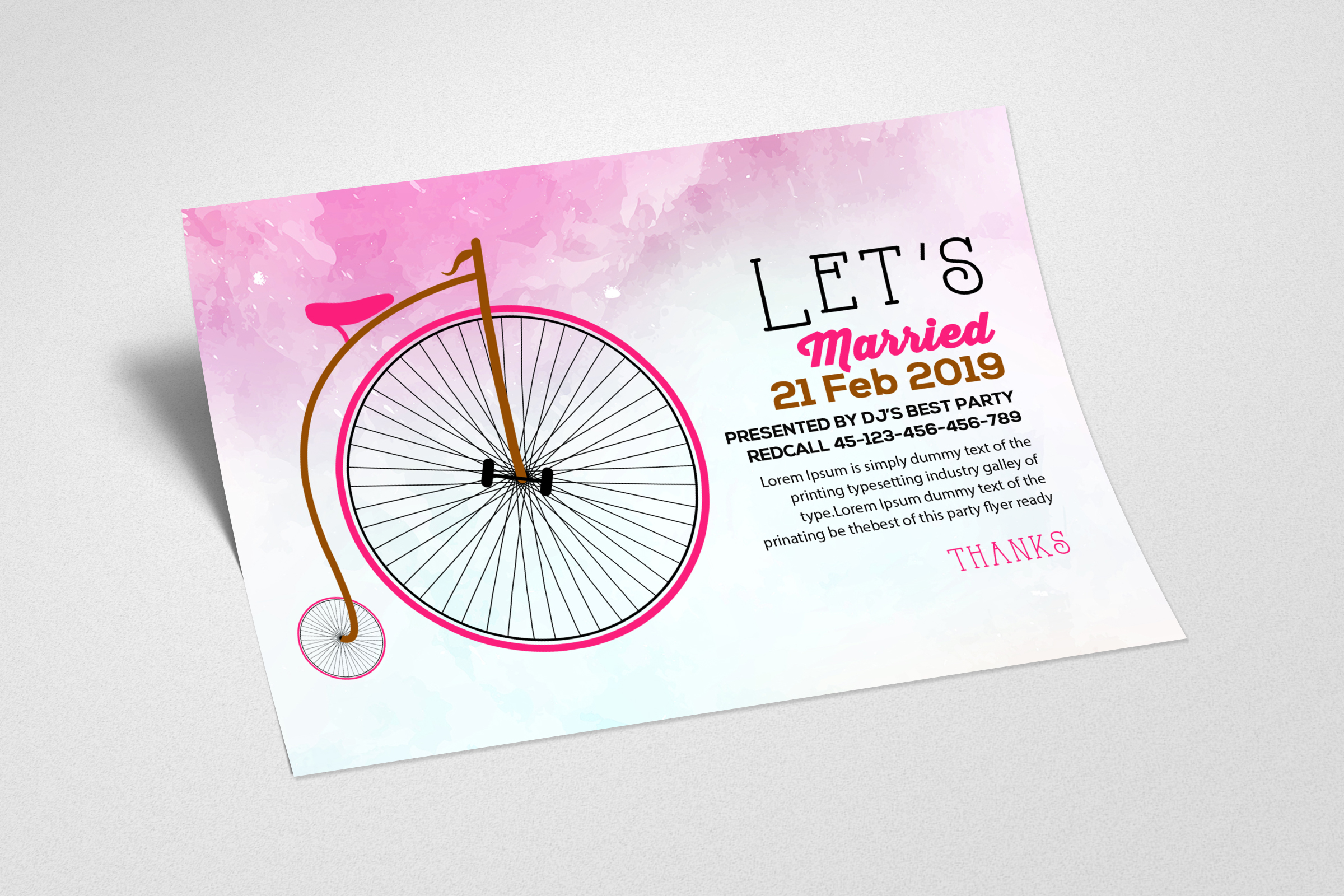 Wedding Invitation Card Template example image 2