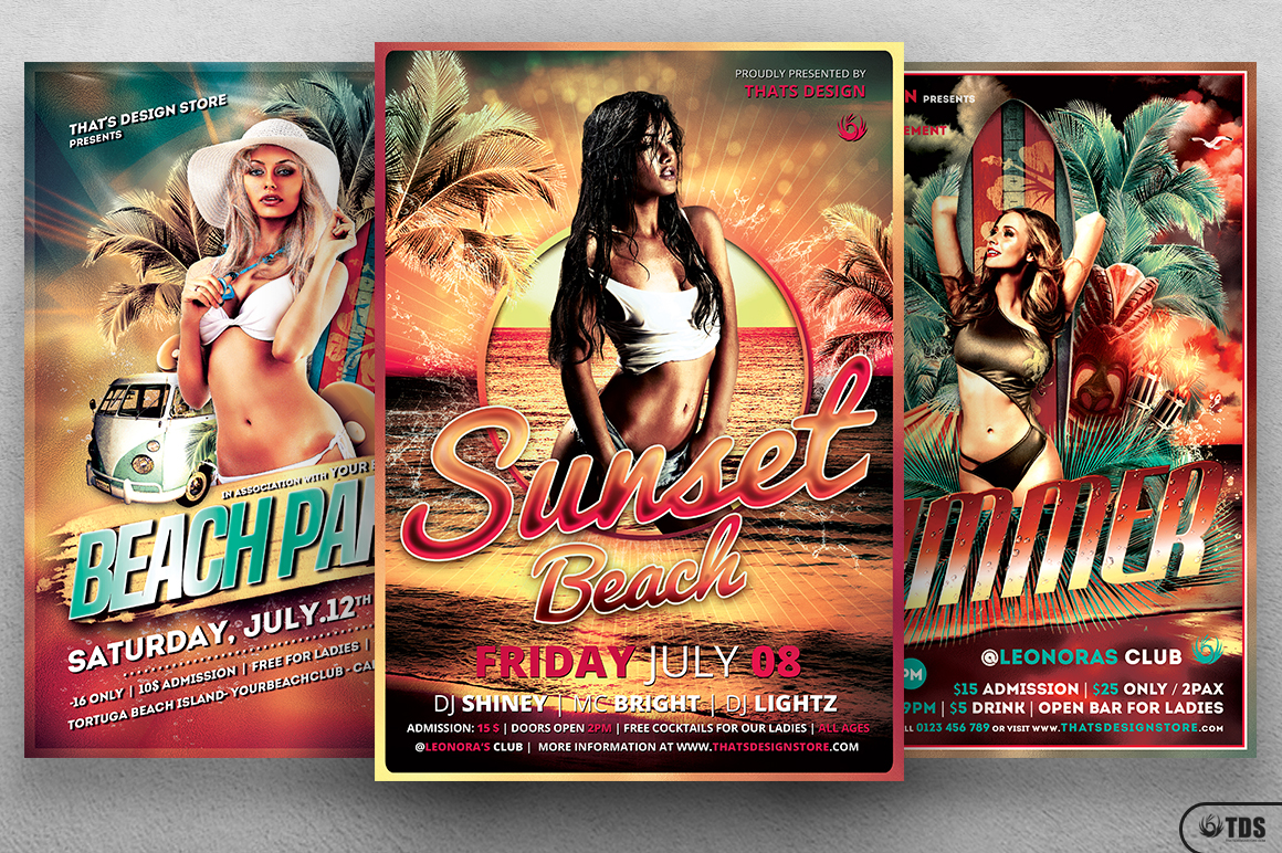 Beach Party Flyer Bundle V1 example image 3