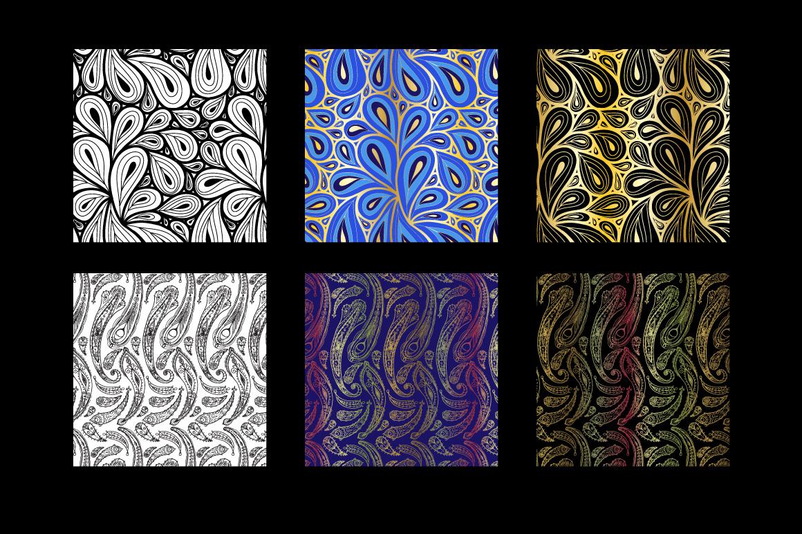 8 seamless paisley patterns example image 4