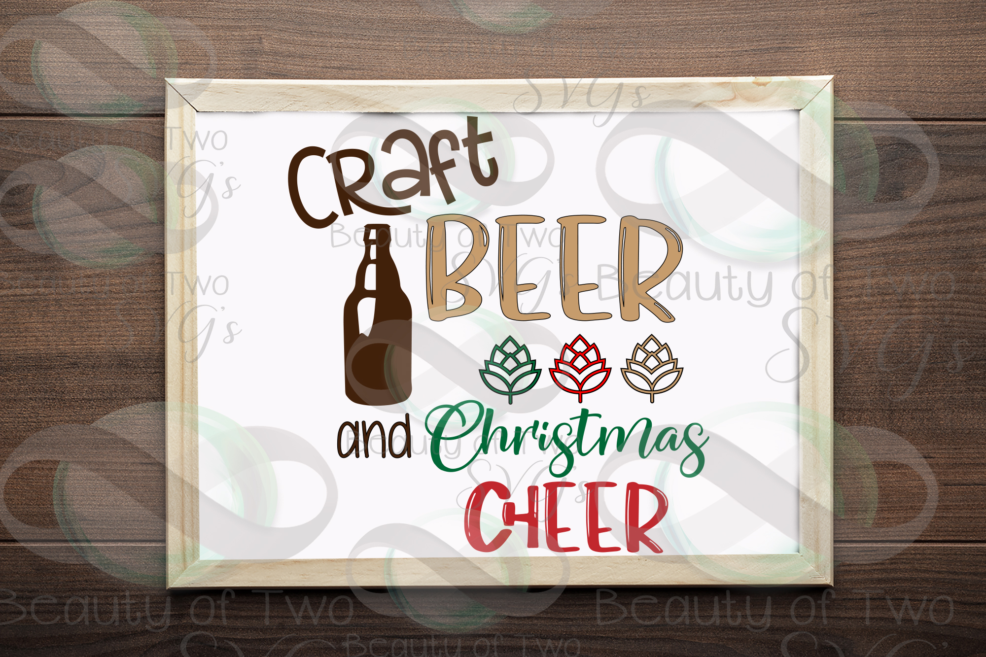 Christmas svg, Craft beer and Christmas cheer svg, beer svg example image 1