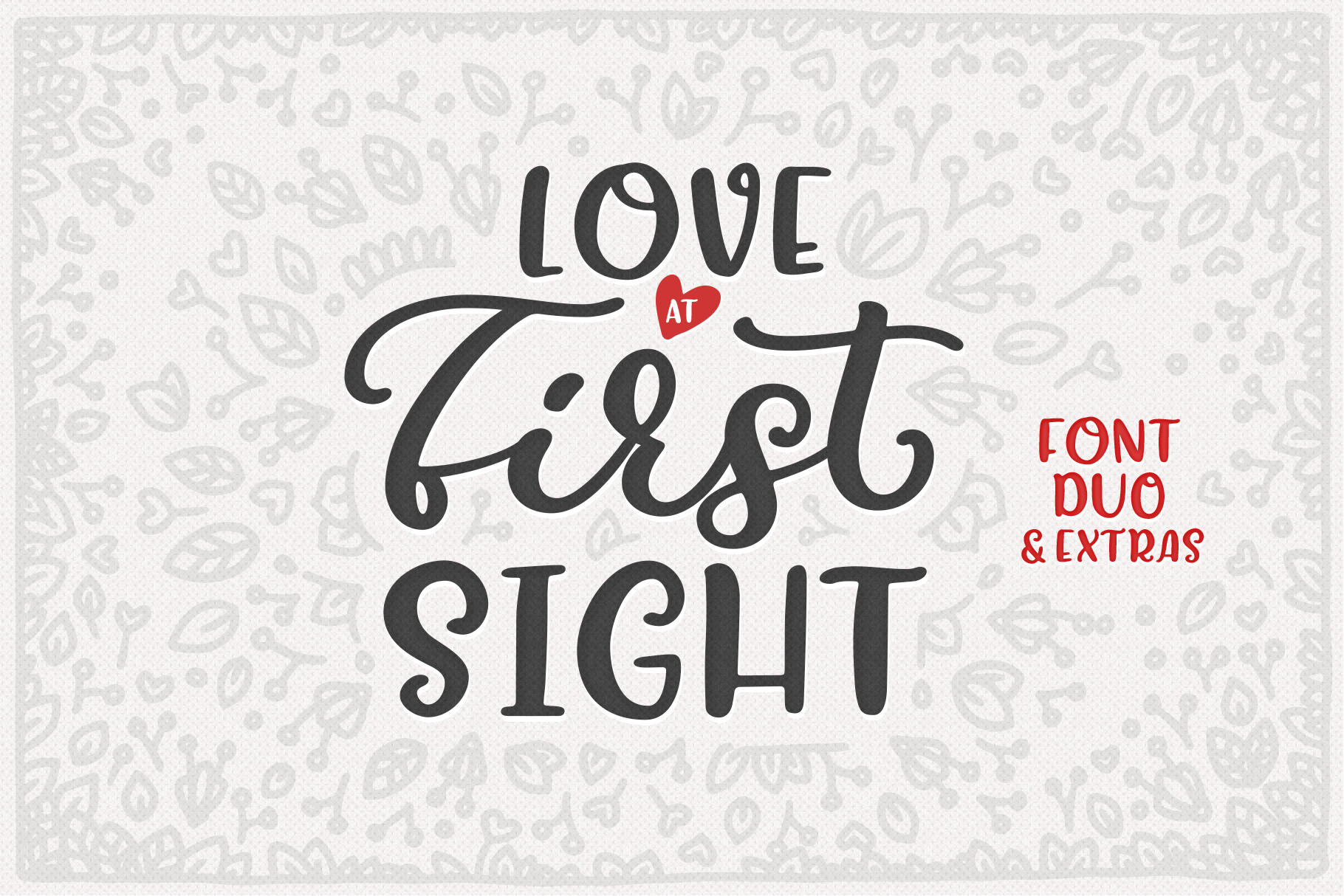 Love At First Sight Font Duo & Extras example image 1