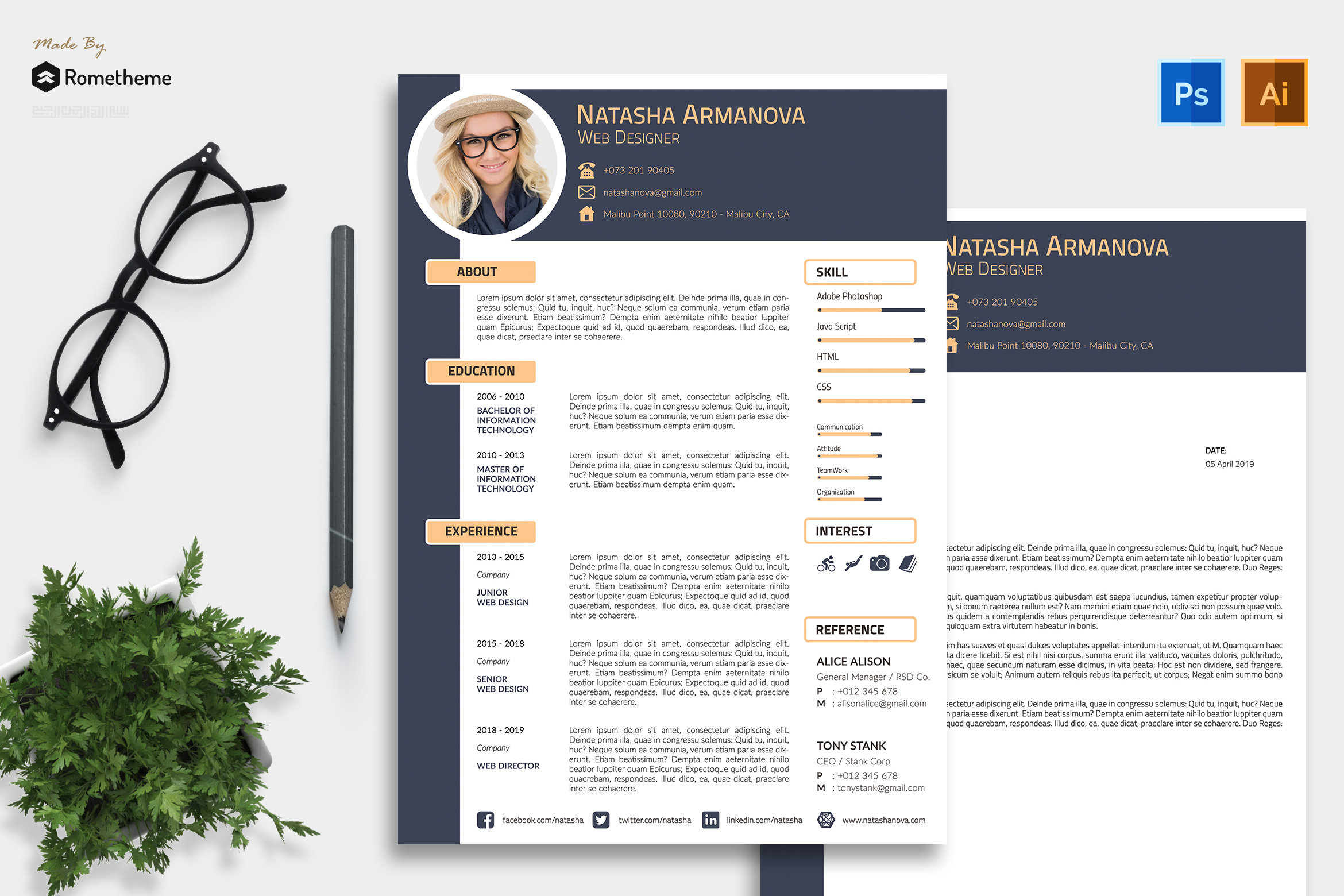 Clean Resume vol. 10 example image 1