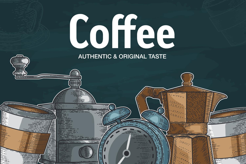 15 designs - Coffee restaurant brochure vector, coffee shop example image 6