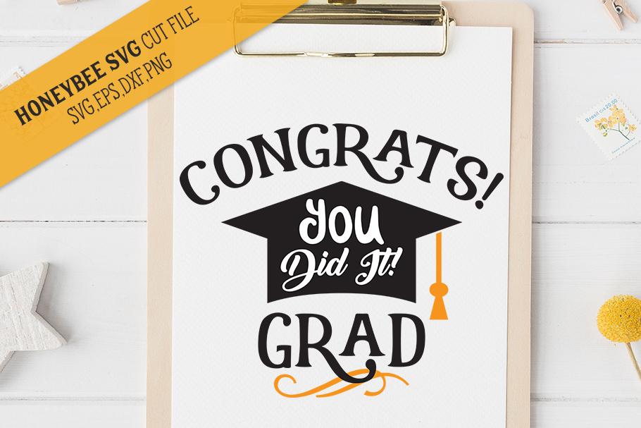 Congrats Grad SVG Cut File example image 1