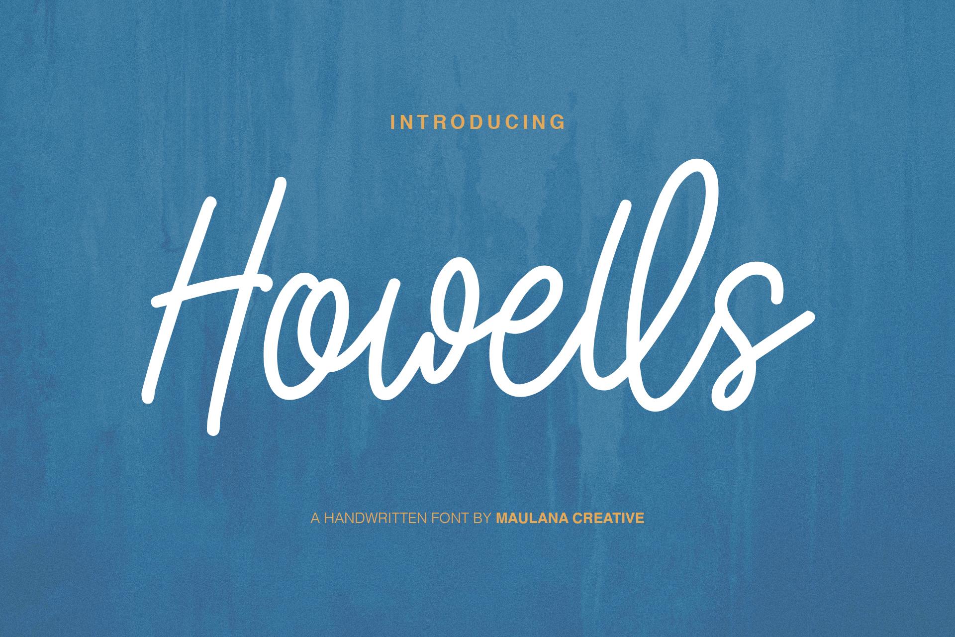 Howells Script Font example image 1