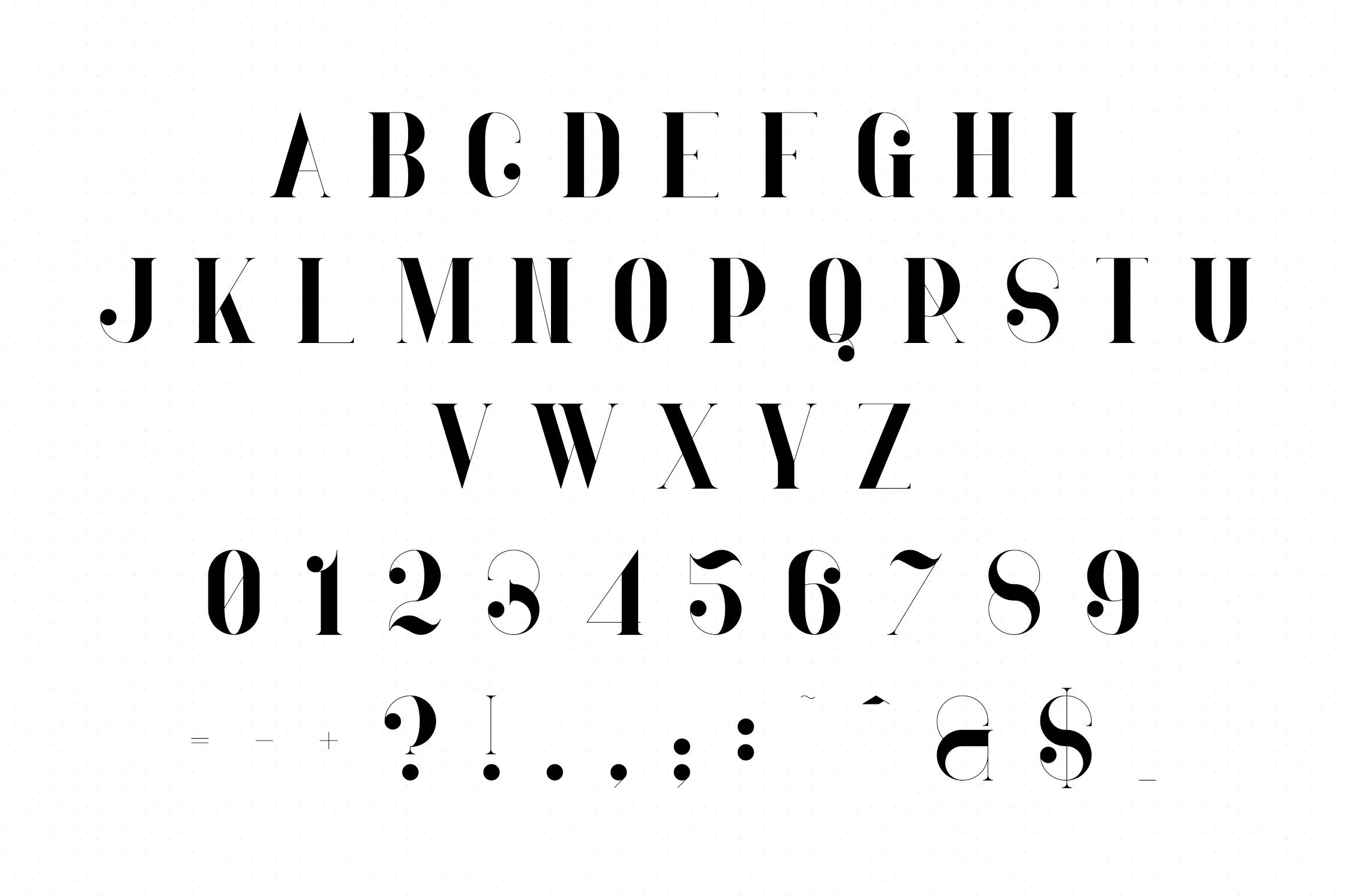 Ravenside-high end trio font example image 8