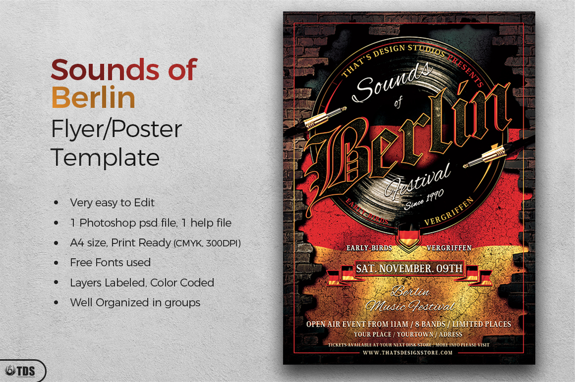 Sounds of Berlin Flyer Template example image 3