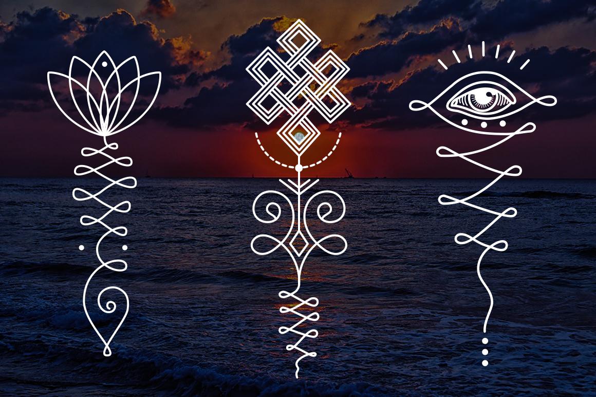 11 Unalome & lotus Sacred symbols example image 6