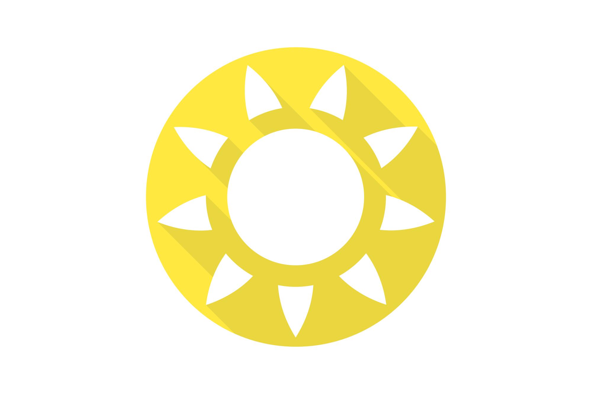 Vector sun icons set. Flat design. example image 6