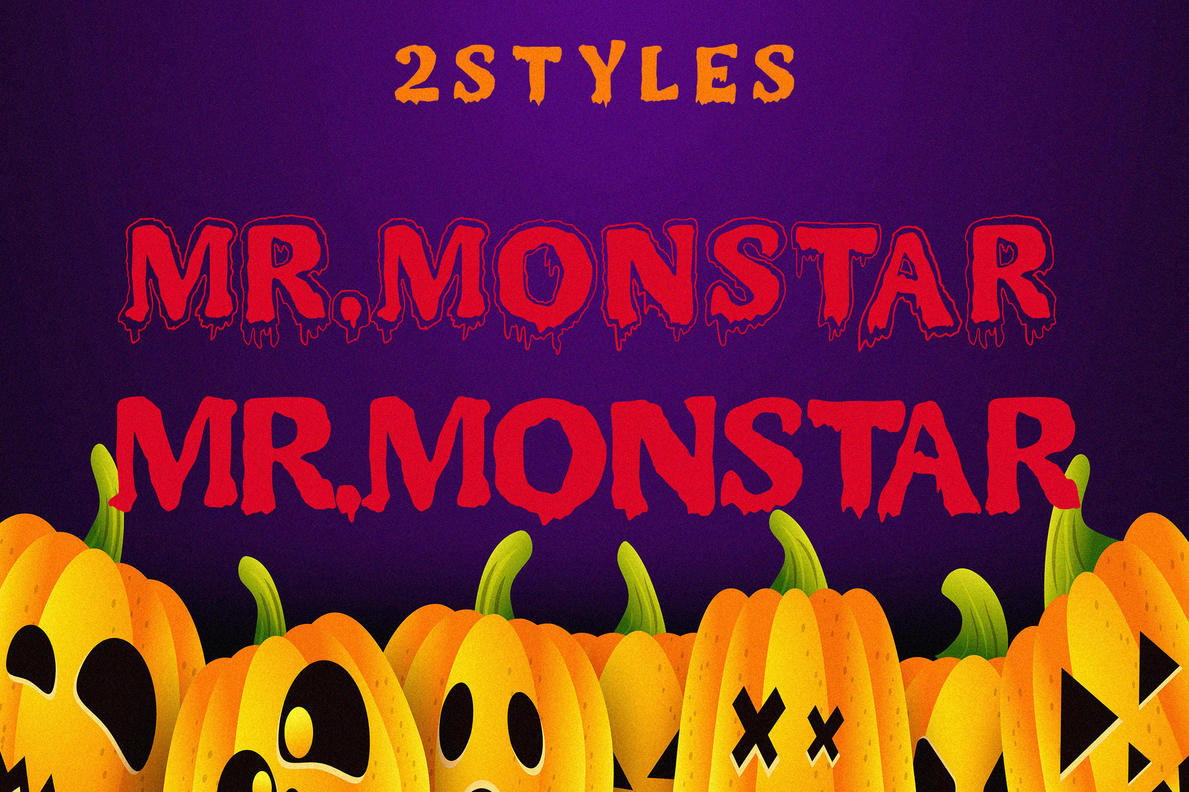 MR.MONSTAR Duo Font & Extras example image 2
