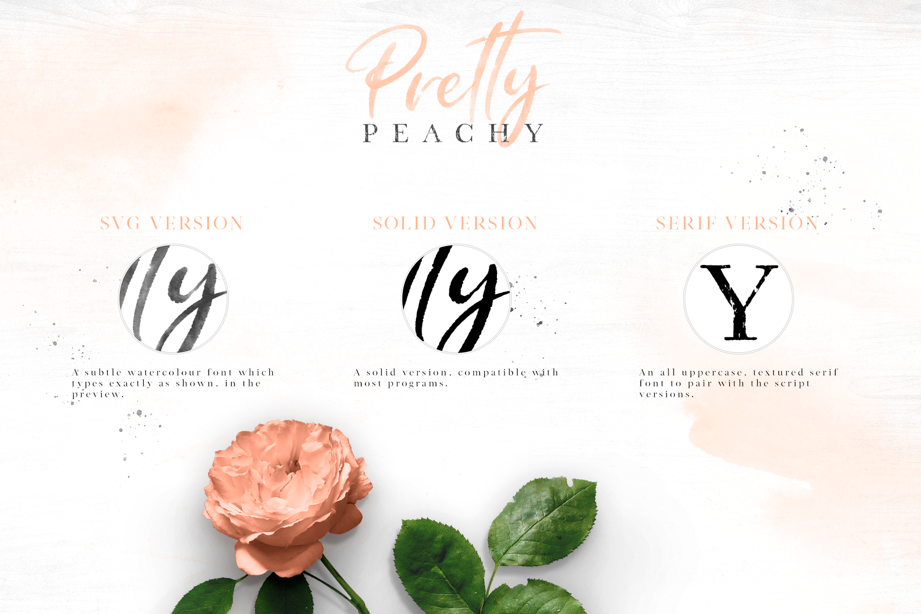 Pretty Peachy SVG Font Duo example image 5