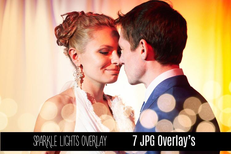 Digital Sparkle Bokeh Lights Effect Overlay JPG example image 5