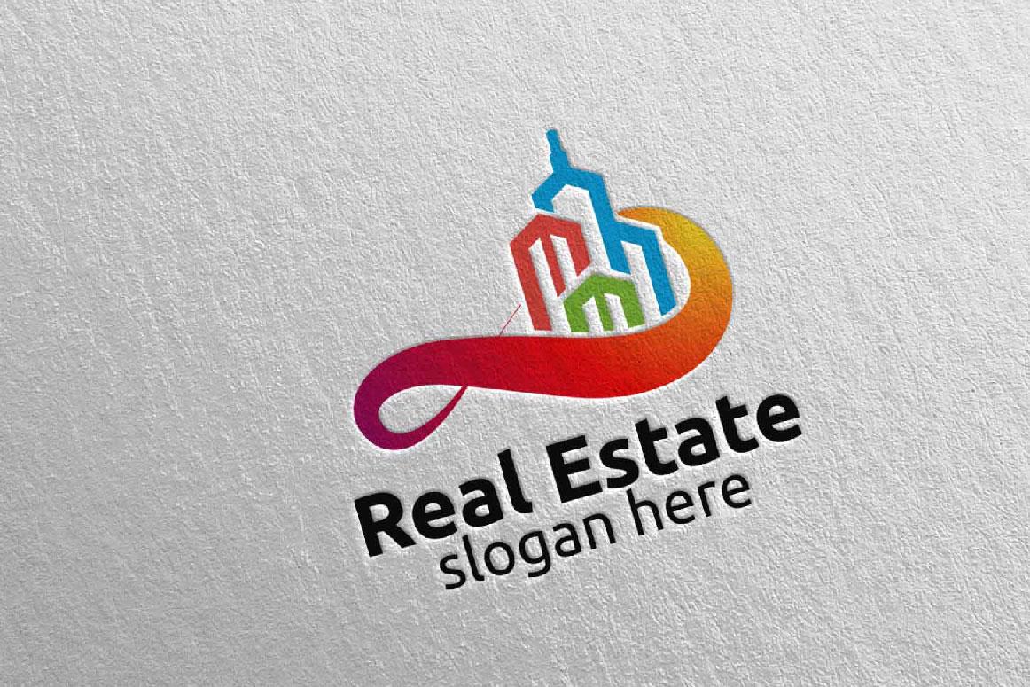 Real Estate Infinity Logo Design 39 example image 3