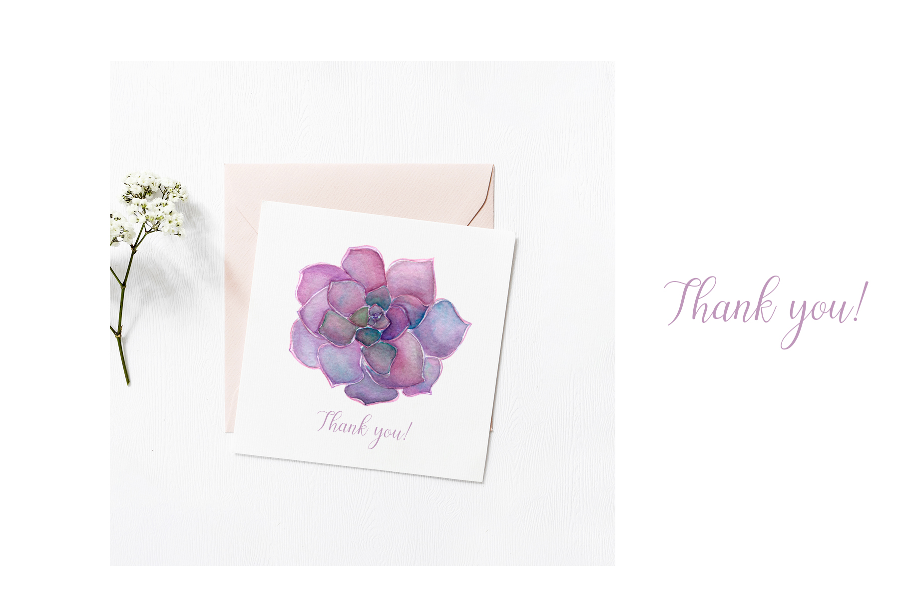 Watercolor floral illustrations example image 4