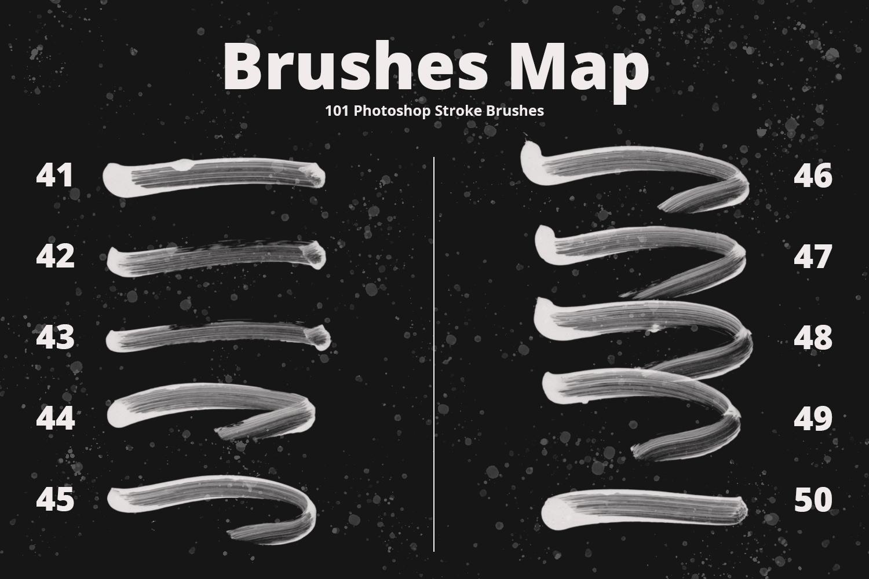 101 Photoshop Paint Stroke Brushes example image 7
