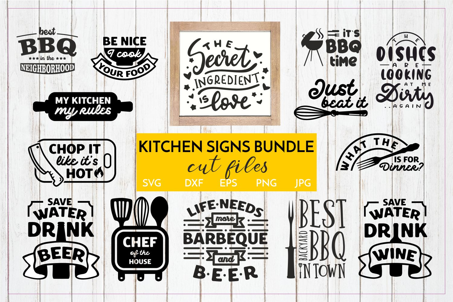 BIG HOME DECOR BUNDLE - Home, Office and funny Kitchen signs example image 2