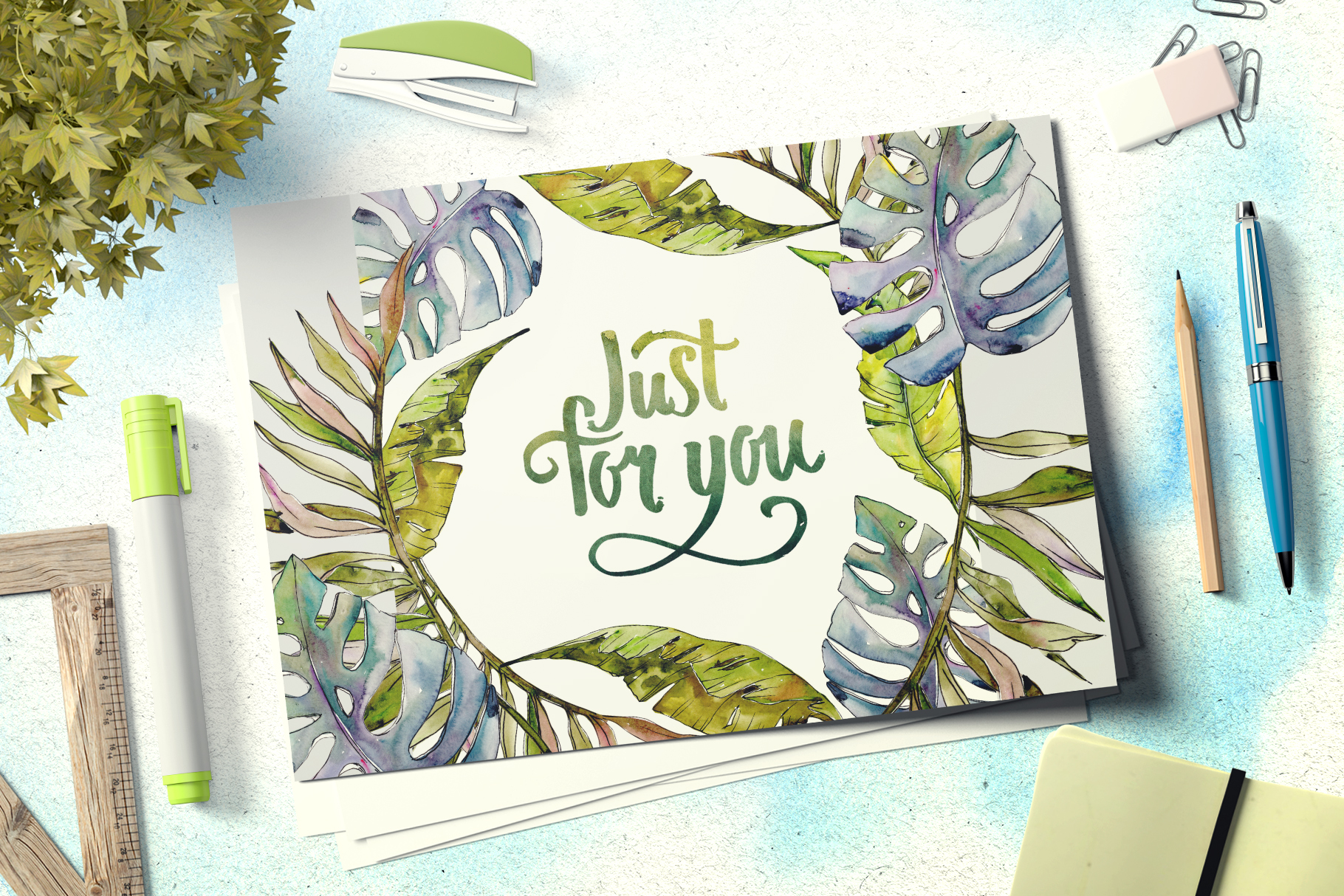Tropical heat Watercolor png example image 6