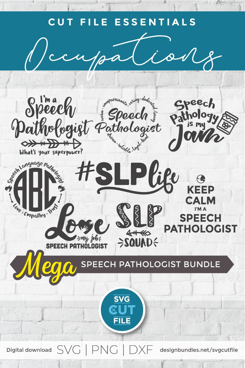 Speech Language Pathologist SLP svg bundle, SLP svg bundle example image 2