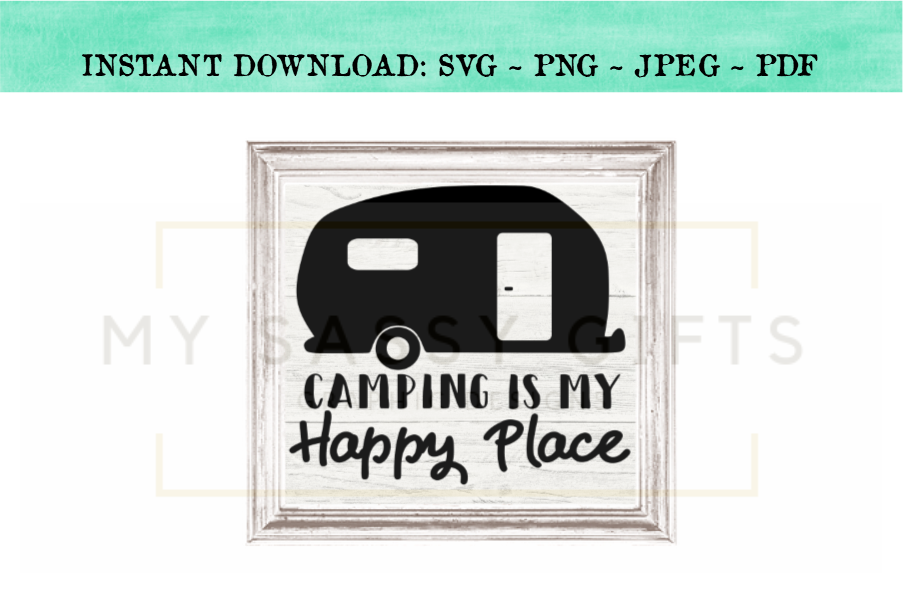 Camping Is My Happy Place SVG Design example image 3