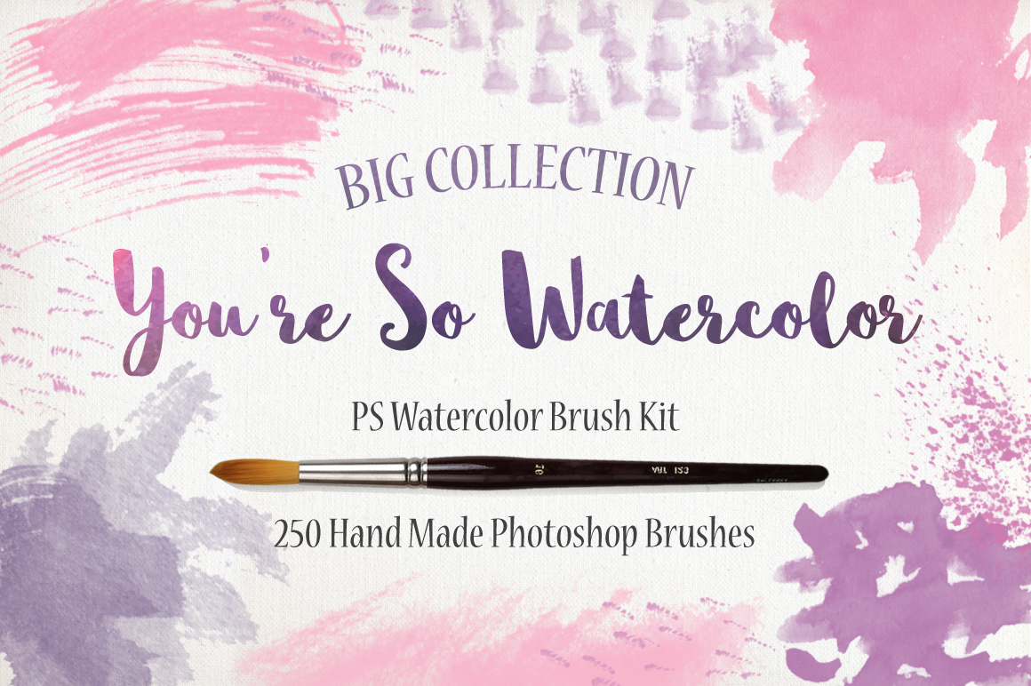 PS Watercolor Brush Kit 250 brushes example image 1