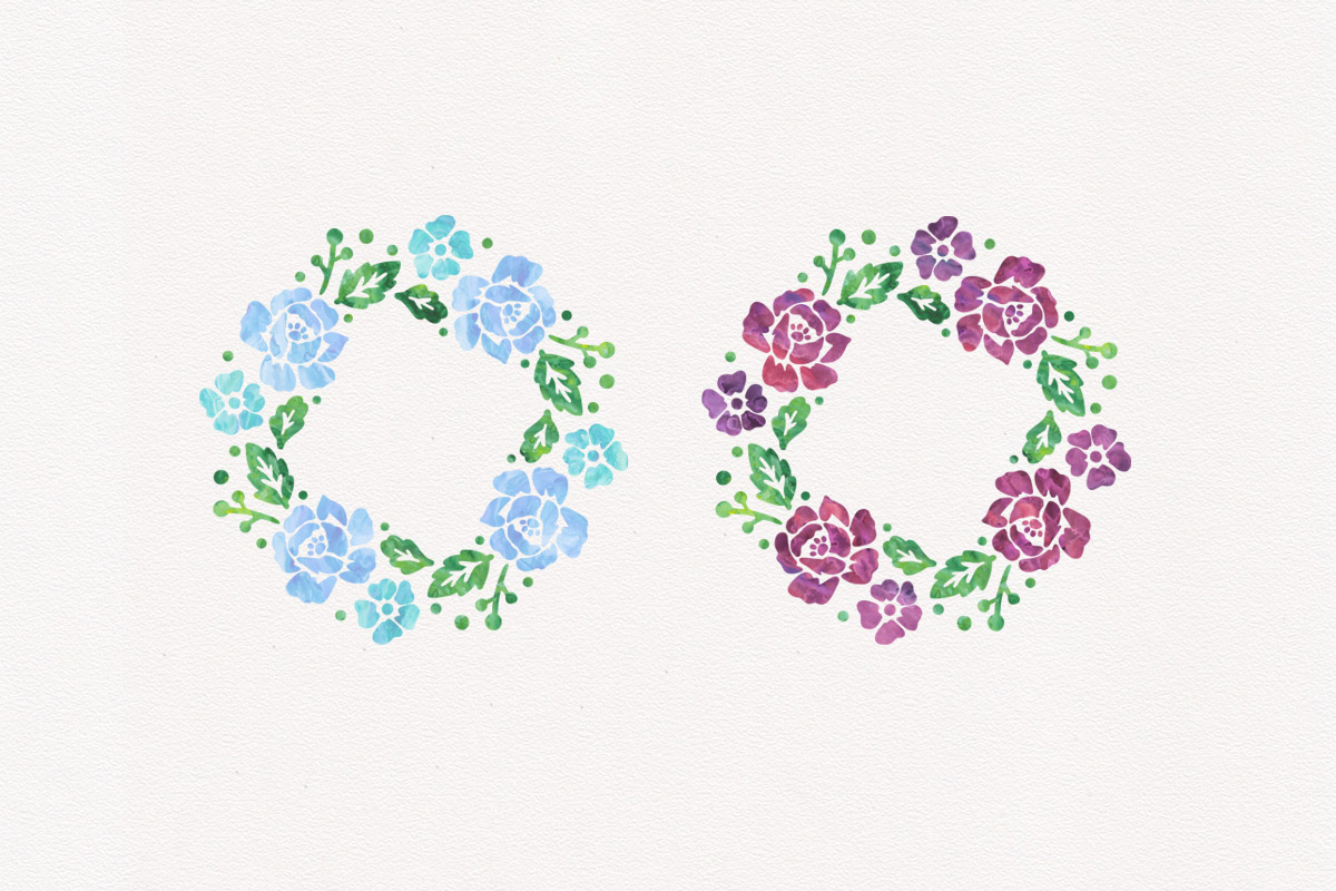 Floral Wreath Watercolor Wreaths Bundle Wedding Clipart Pack example image 3
