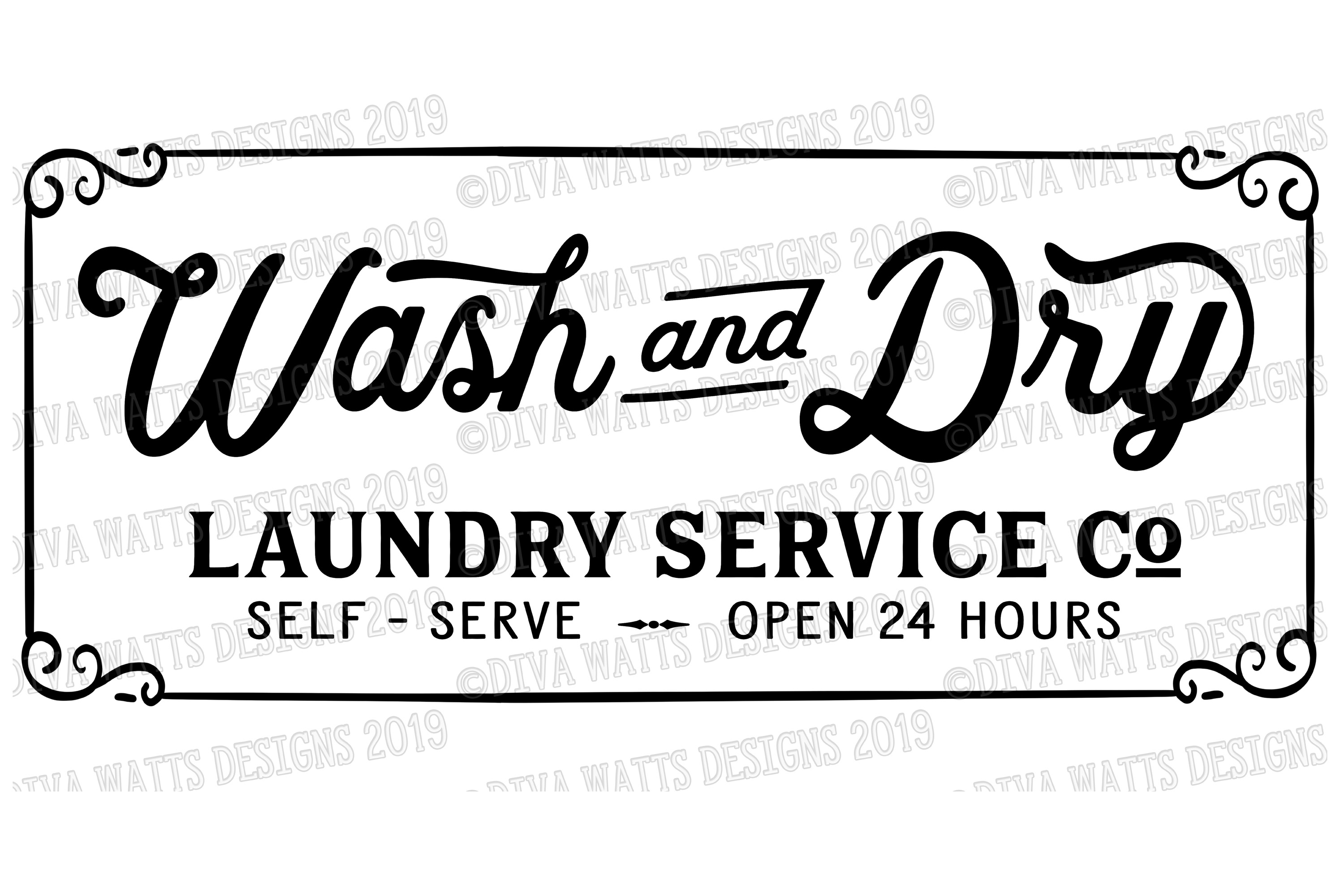 Wash and Dry Laundry Service Co Self Serve Cutting File example image 2