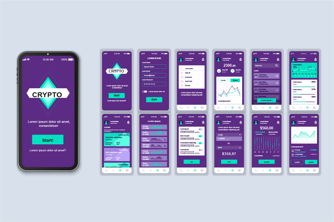 Bundle Mobile App UI Kit Screens example image 3