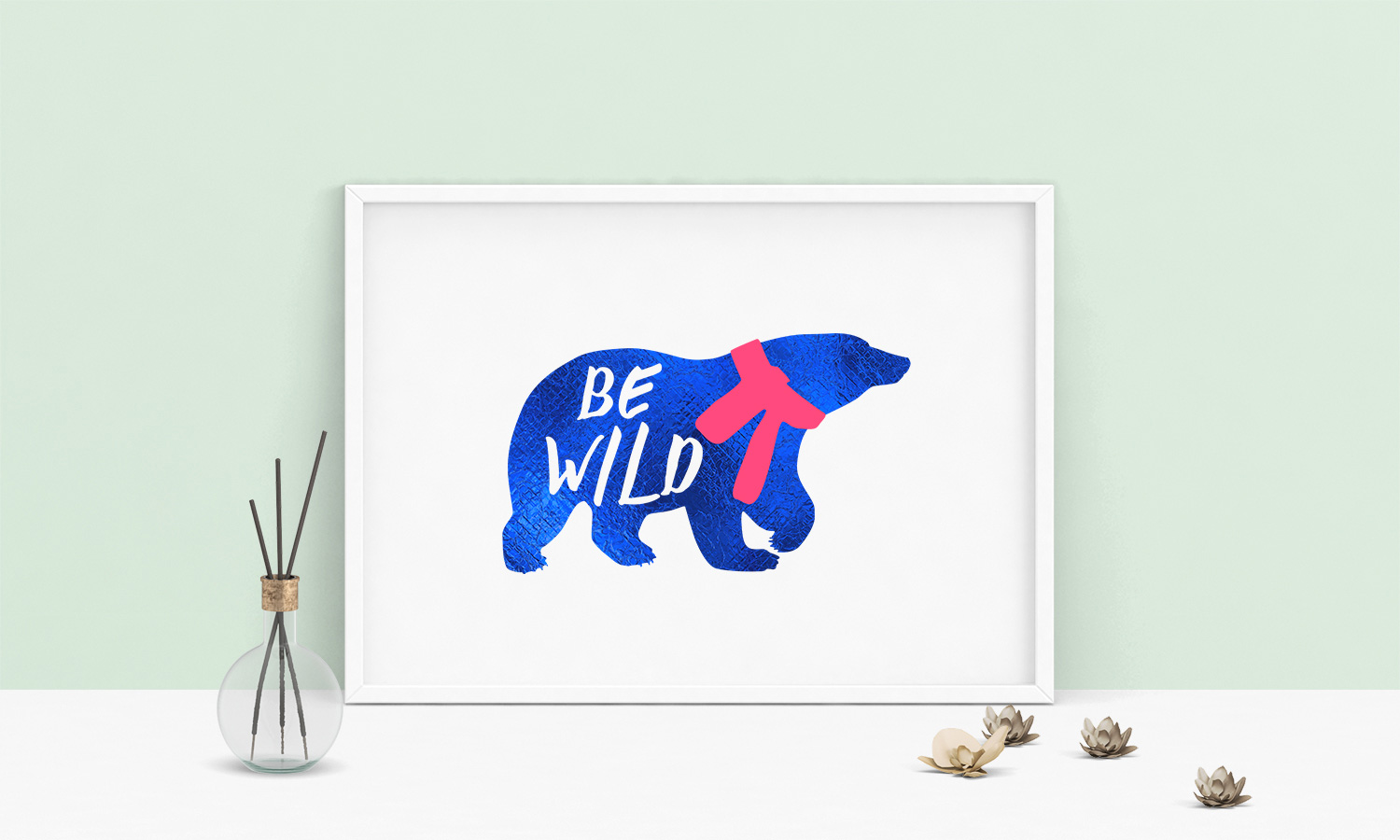Bear Vector Graphic, Be Wild Saying Cut File, Bear SVG example image 2