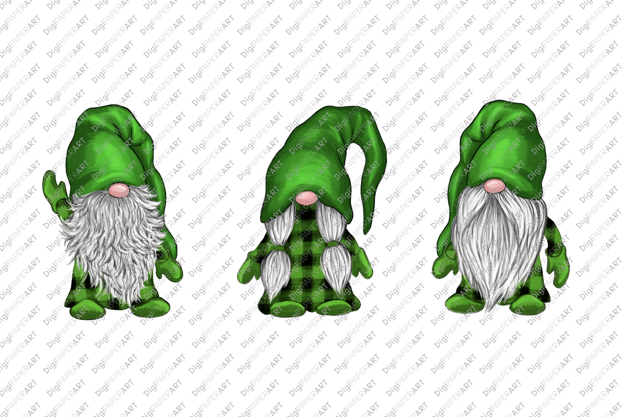 St. Patricks Day Gnome PNG, Gnome Sublimation Design example image 2