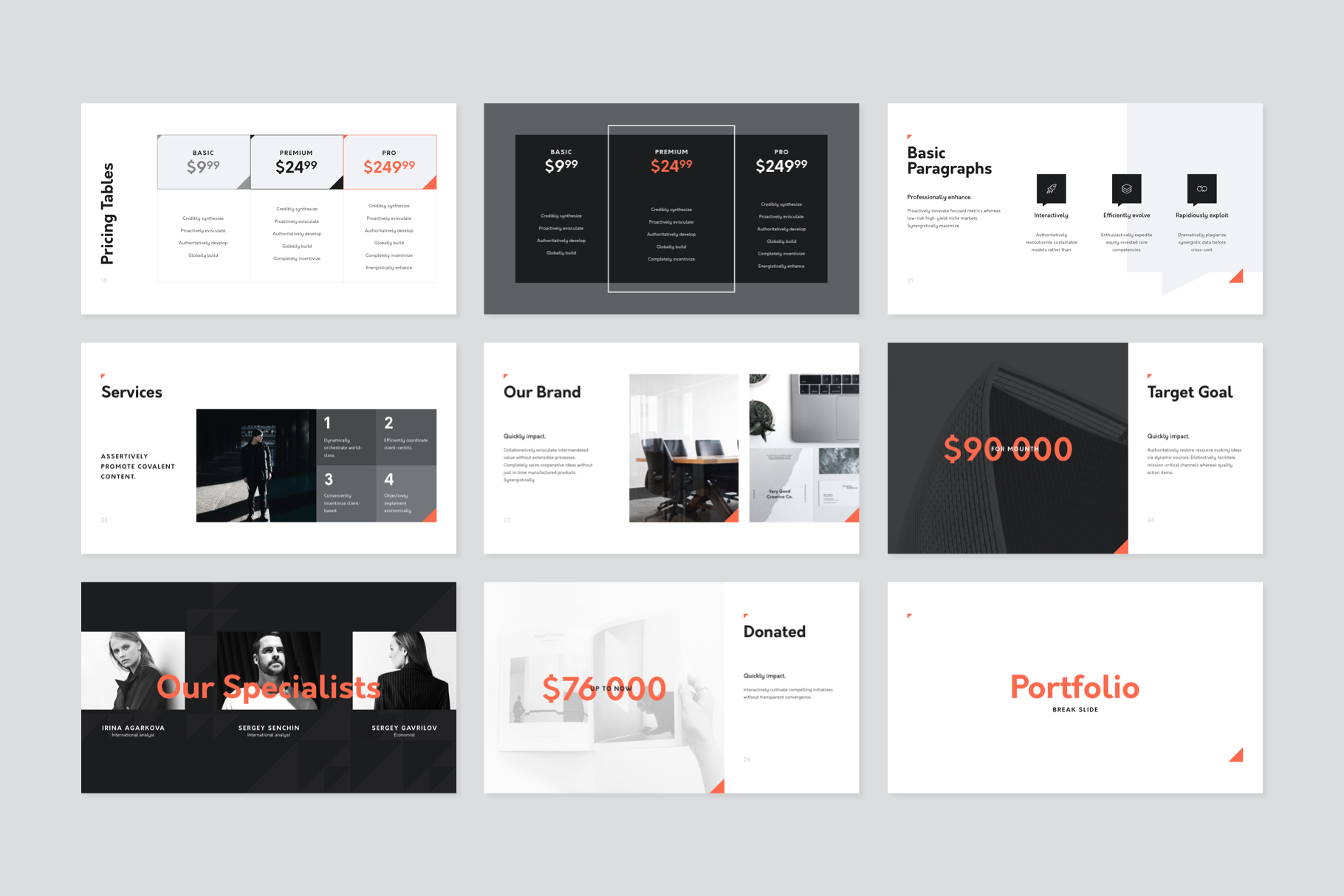 Corp Keynote Presentation Template example image 5