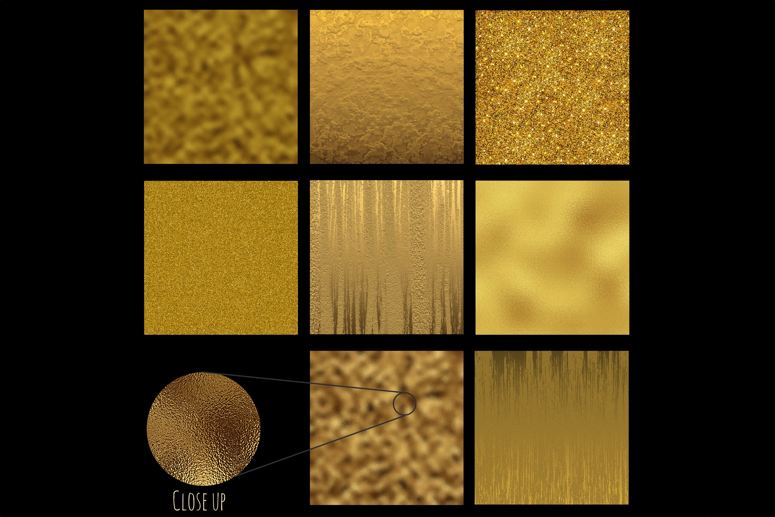 Gold foil textures example image 2