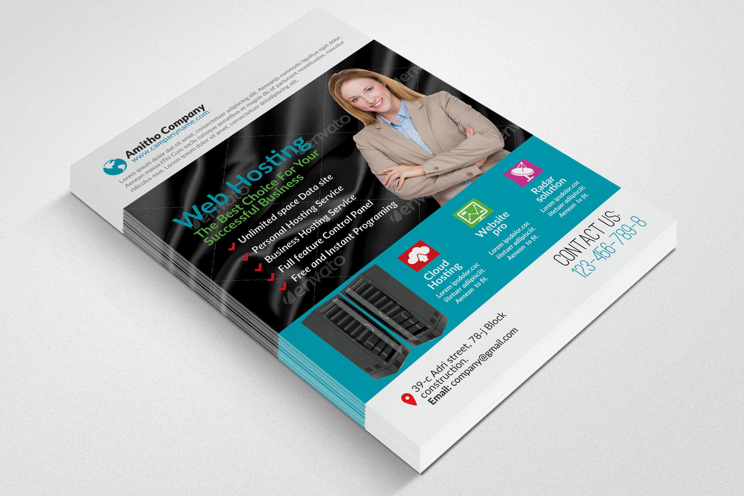 Web Hosting Flyer example image 2