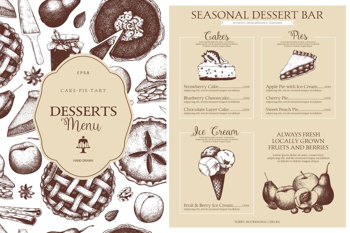 Sweet Bakery Menu example image 2