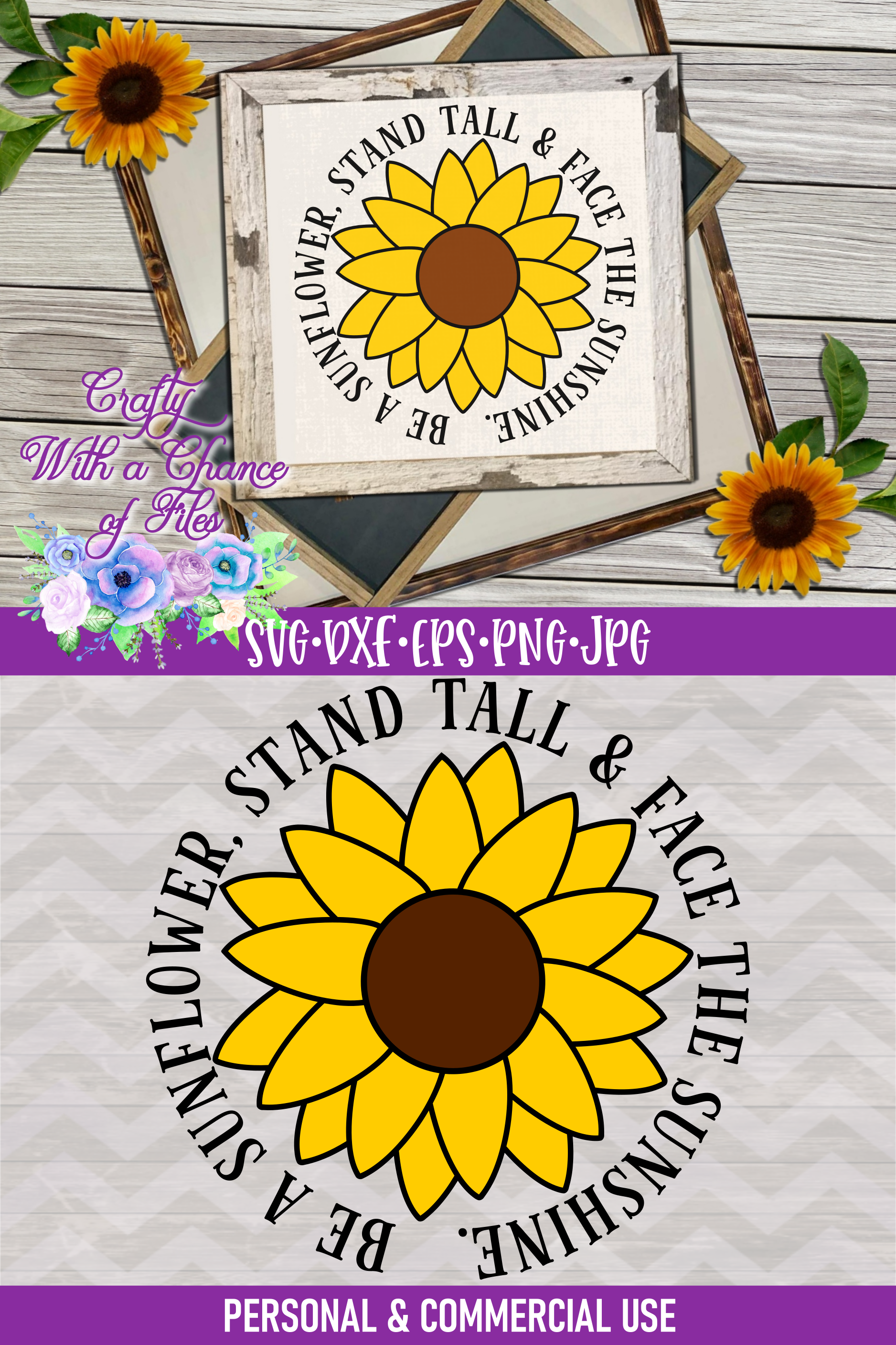 Be a Sunflower SVG | Autumn SVG | Sunflowers SVG | Fall SVG example image 4
