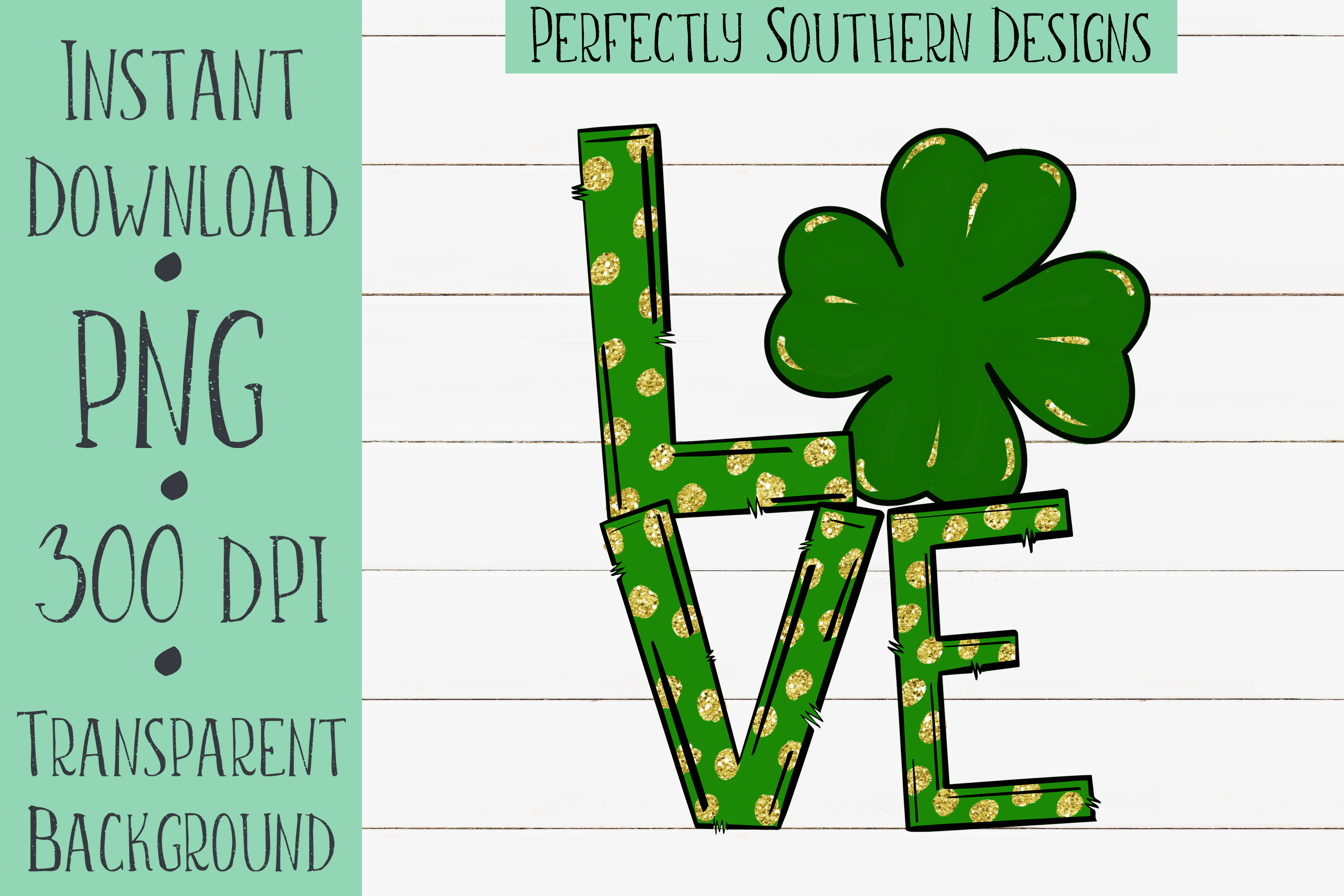 Love four leaf clover example image 1