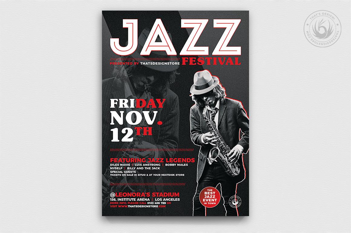 10 Jazz Festival Flyer Bundle example image 2