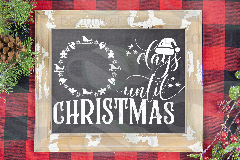 Christmas Farmhouse Countdown svg, Santa Countdown svg, example image 2