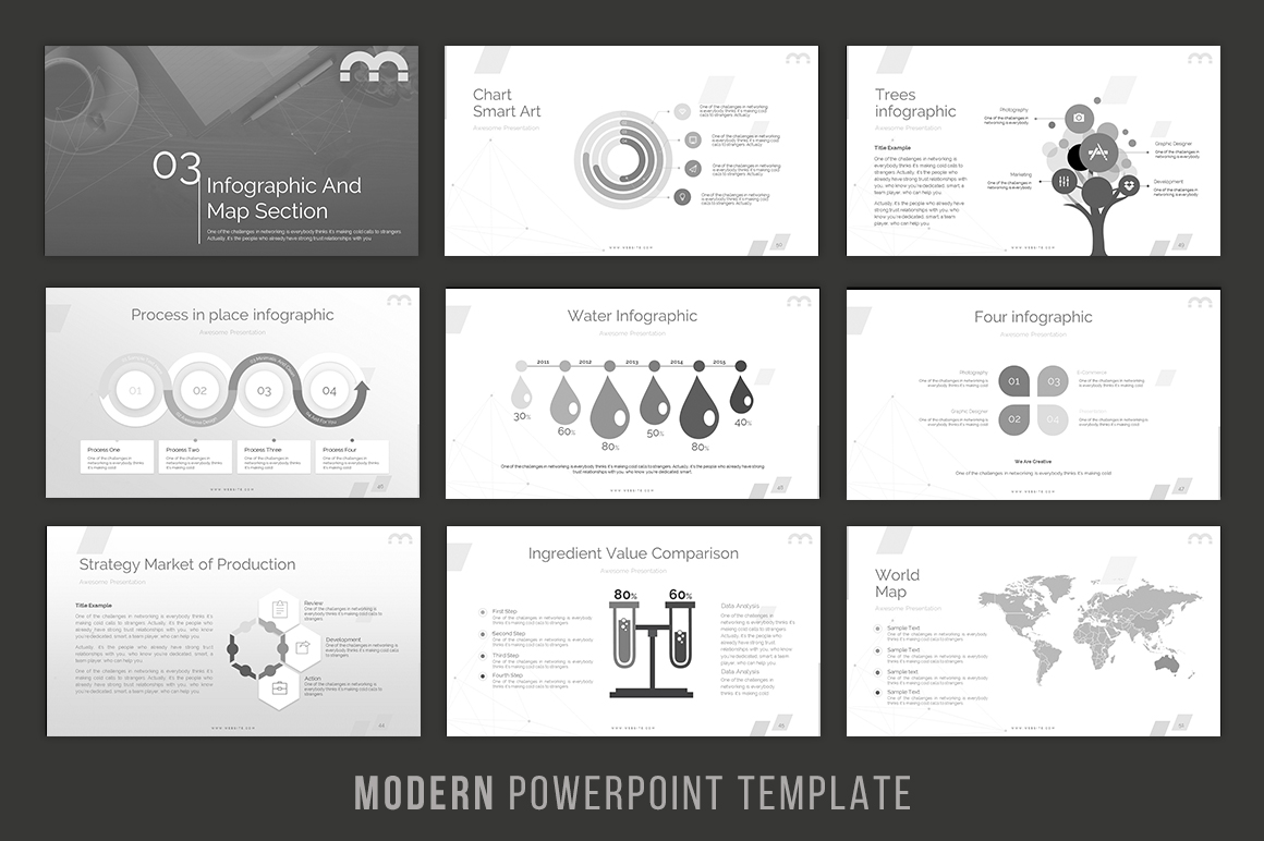 Modern - Powerpoint Template example image 5