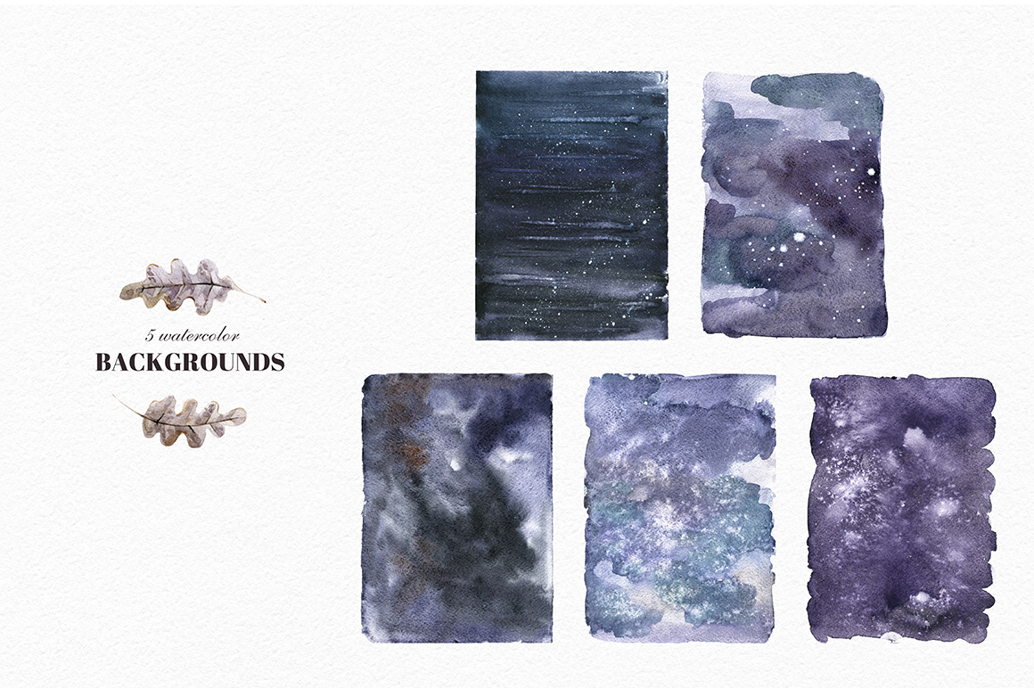 Mystical Wilds. Watercolor set. example image 9